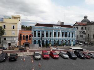 Widok z balkonu Teatro Amazonas